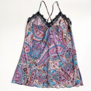 ModCloth Bea & Dot Paisley Sheer Lace Chemise Cami
